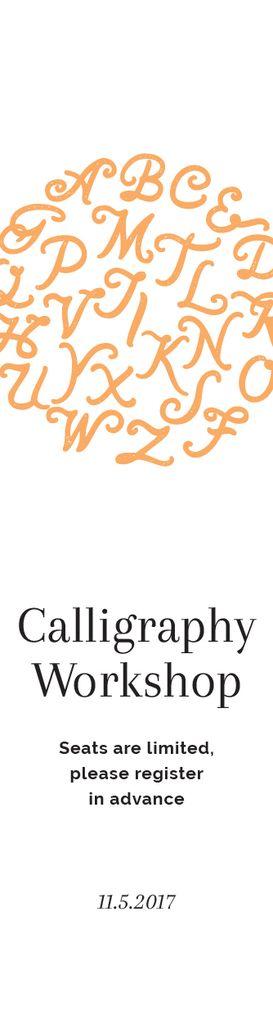Calligraphy Workshop Announcement Letters on White — Maak een ontwerp