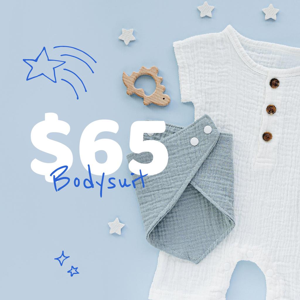 Baby Clothes and Toys store ad - Bir Tasarım Oluşturun