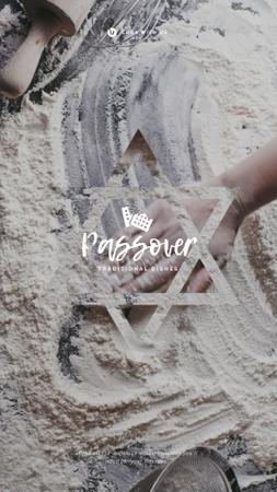 Template di design Hand in Flour Cooking bread for Passover  Instagram Video Story