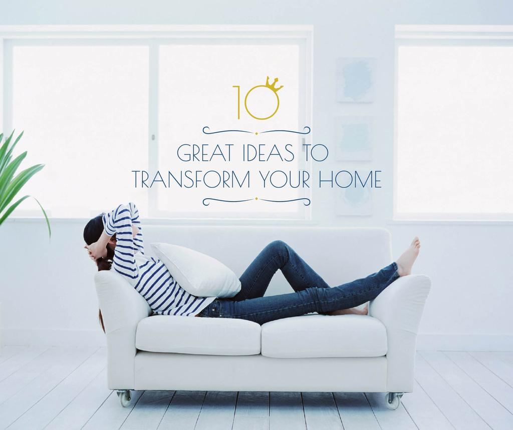 Home Decor ideas Woman Resting on Sofa Facebook – шаблон для дизайна