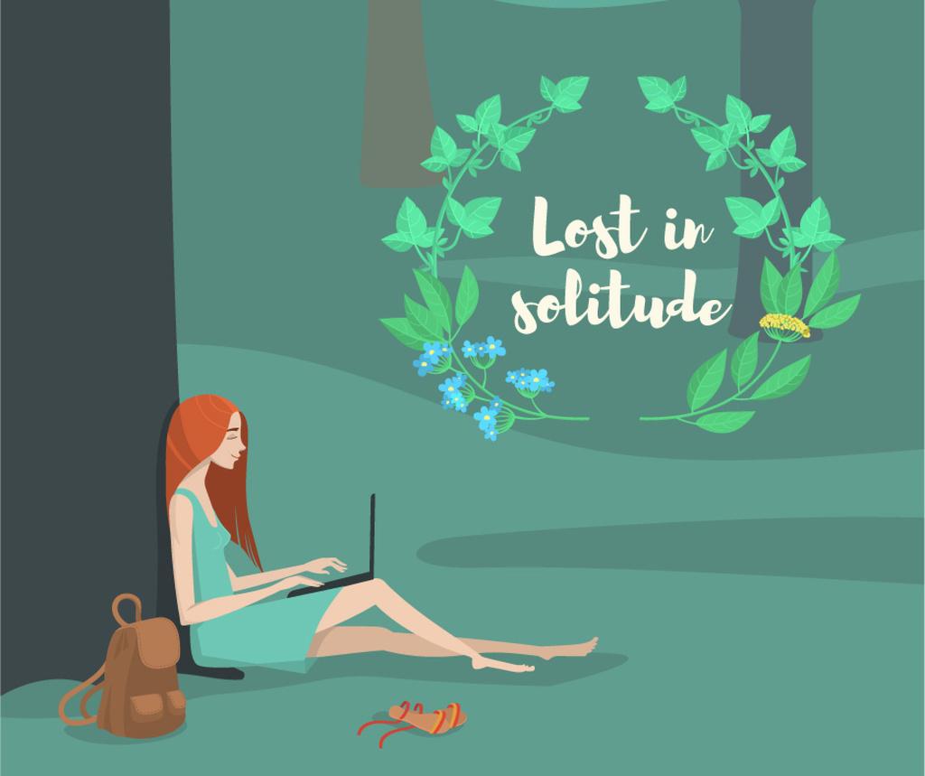 Lost in solitude illustration  — ein Design erstellen