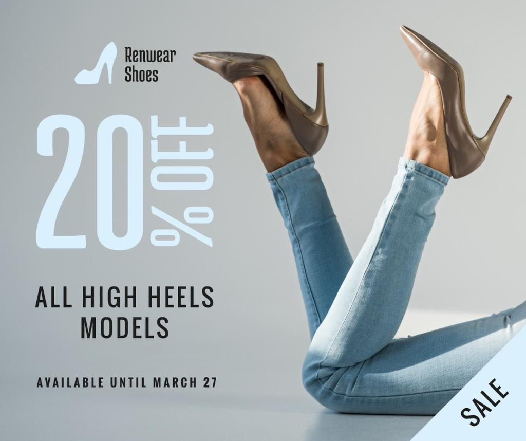 Fashion Sale Woman in Heeled Shoes — Create a Design