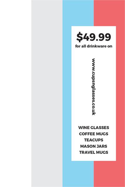 Drinkware for all shop Pinterest – шаблон для дизайну
