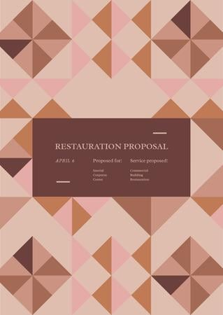 Restoration services offer Proposalデザインテンプレート