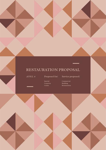 Restoration services offer Proposal – шаблон для дизайну