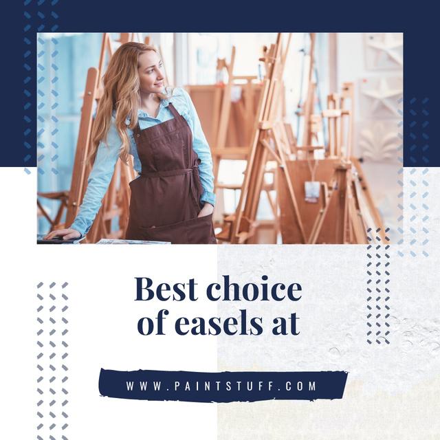 Creative girl by Easel in studio Instagram AD – шаблон для дизайна