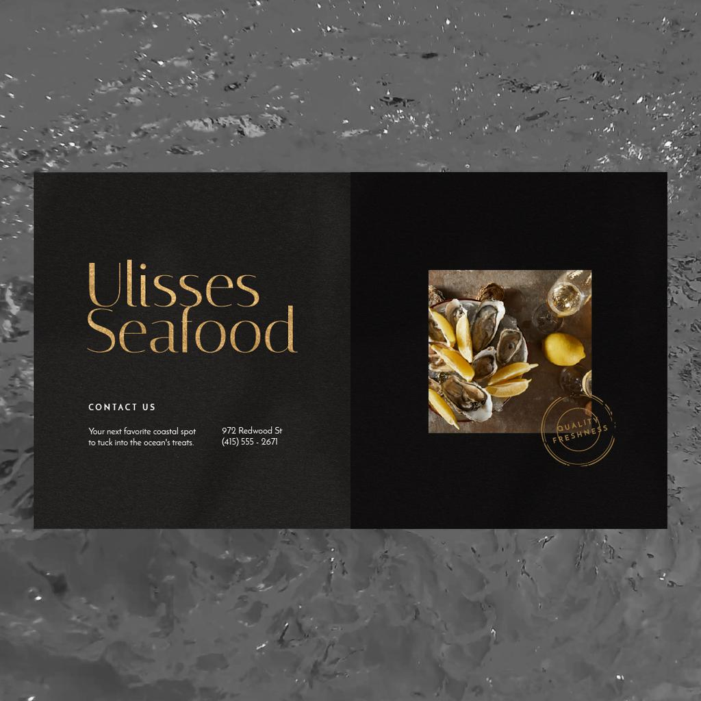 Seafood Bar Promotion Oysters on a Plate — Crear un diseño