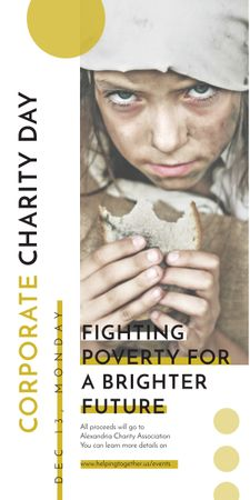 Poverty quote with child on Corporate Charity Day Graphic Tasarım Şablonu