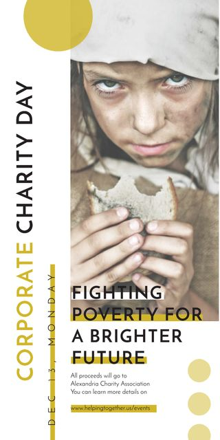 Szablon projektu Poverty quote with child on Corporate Charity Day Graphic