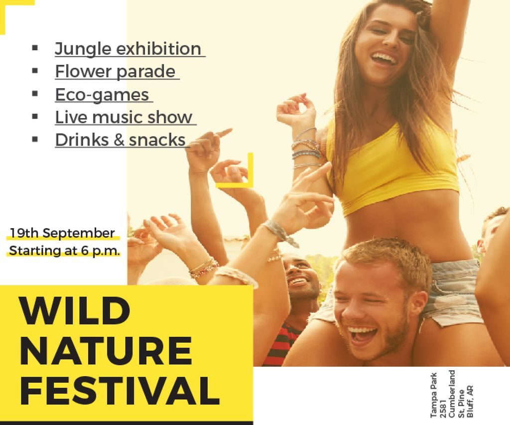 Wild nature festival — Create a Design