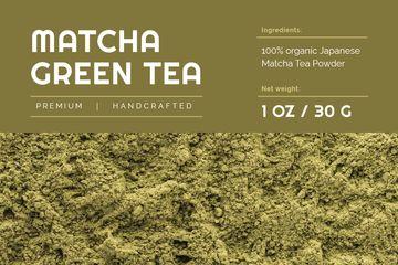 Matcha ad on green Tea powder