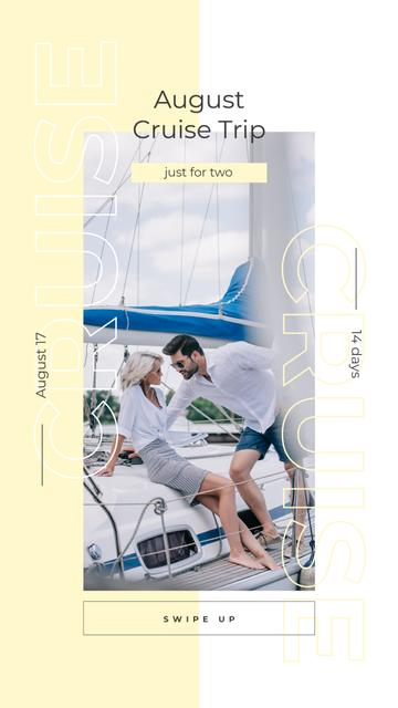 Couple sailing on yacht Instagram Story Modelo de Design