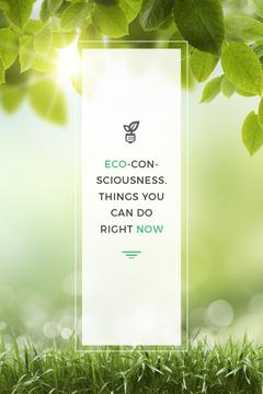 Eco Technologies Concept Light Bulb with Leaves | Pinterest Template