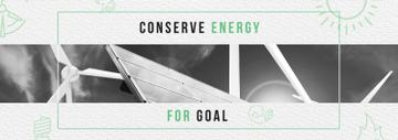 Green Energy Wind Turbines and Solar Panels | Tumblr Banner Template