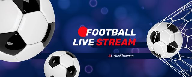 Football Live stream announcement Twitch Profile Bannerデザインテンプレート