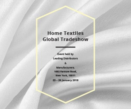 Template di design Home textiles global tradeshow Medium Rectangle