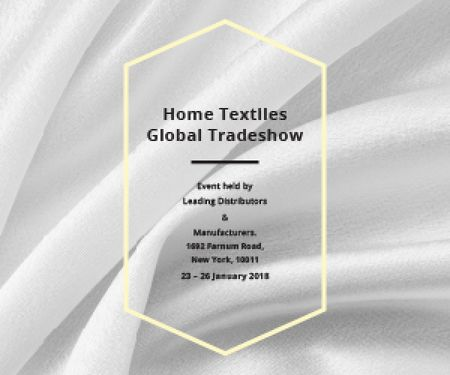 Designvorlage Home textiles global tradeshow für Medium Rectangle