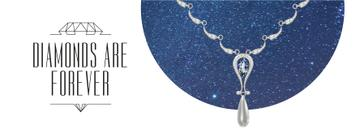 Accessories Offer Necklace with Diamonds