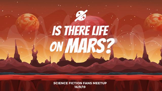 Template di design Landscape of red planet Full HD video