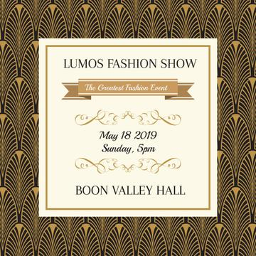 Lumos fashion show poster