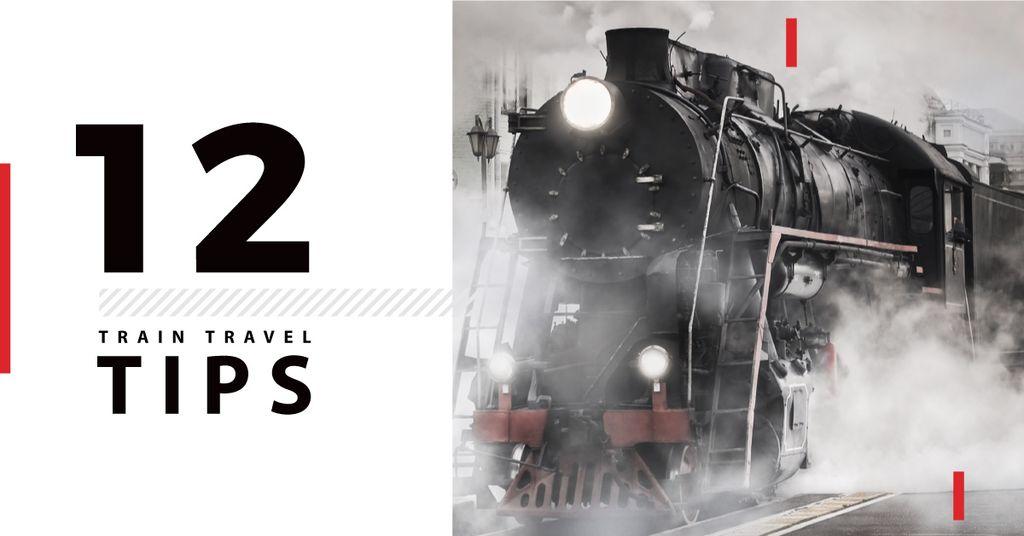 Train travel tips with old train — Créer un visuel