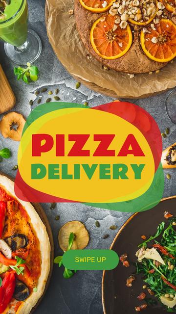 Modèle de visuel Pizza Delivery service - Instagram Story