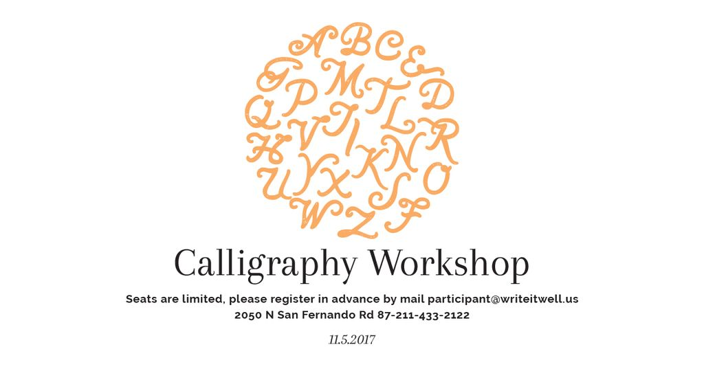 Calligraphy workshop Annoucement — Maak een ontwerp