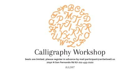 Ontwerpsjabloon van Facebook AD van Calligraphy workshop Annoucement