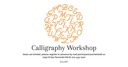 Calligraphy workshop Annoucement Facebook AD Modelo de Design