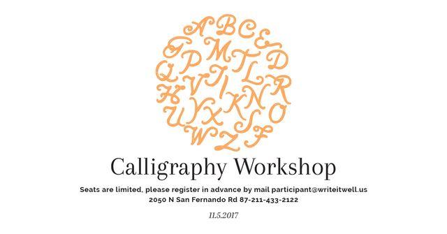 Calligraphy workshop Annoucement Facebook AD – шаблон для дизайну