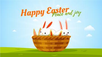Easter Greeting Bunnies in Basket | Full Hd Video Template
