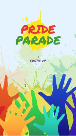 Template di design LGBT pride crowd hands Instagram Story