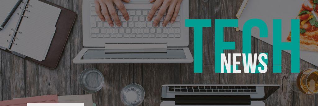 tech news banner — Создать дизайн