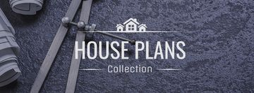 House Plans blueprints on table