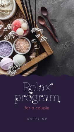 Plantilla de diseño de Relax Program for Couple Offer Instagram Story