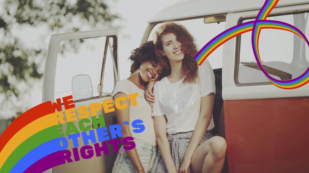 Pride Month Celebration Two Smiling Girls — Crea un design
