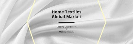 Plantilla de diseño de Home Textiles Events Announcement White Silk Twitter