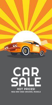Car Sale Advertisement Muscle Car in Orange