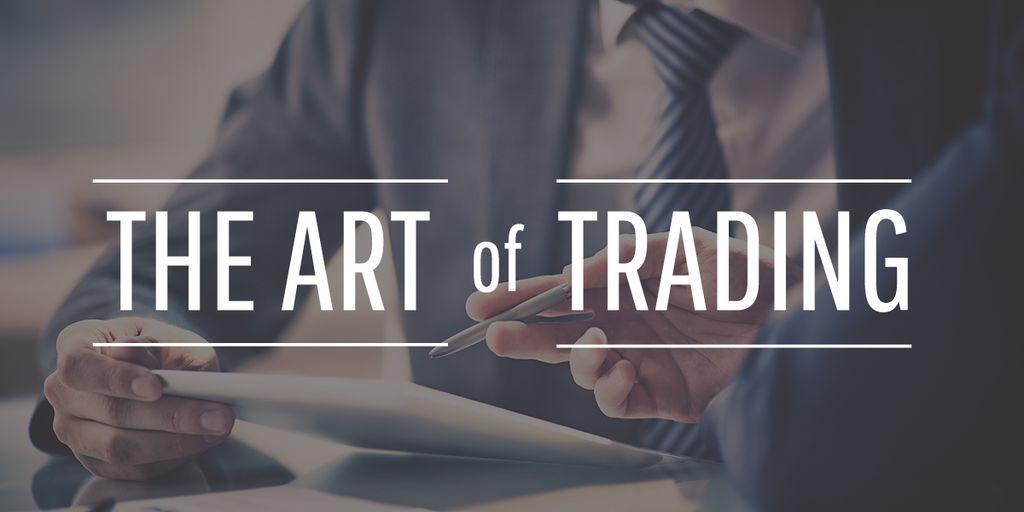Art of trading poster  — Maak een ontwerp
