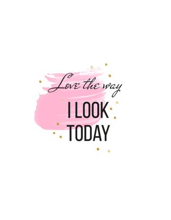 Modèle de visuel Beauty Inspiration quote - T-Shirt