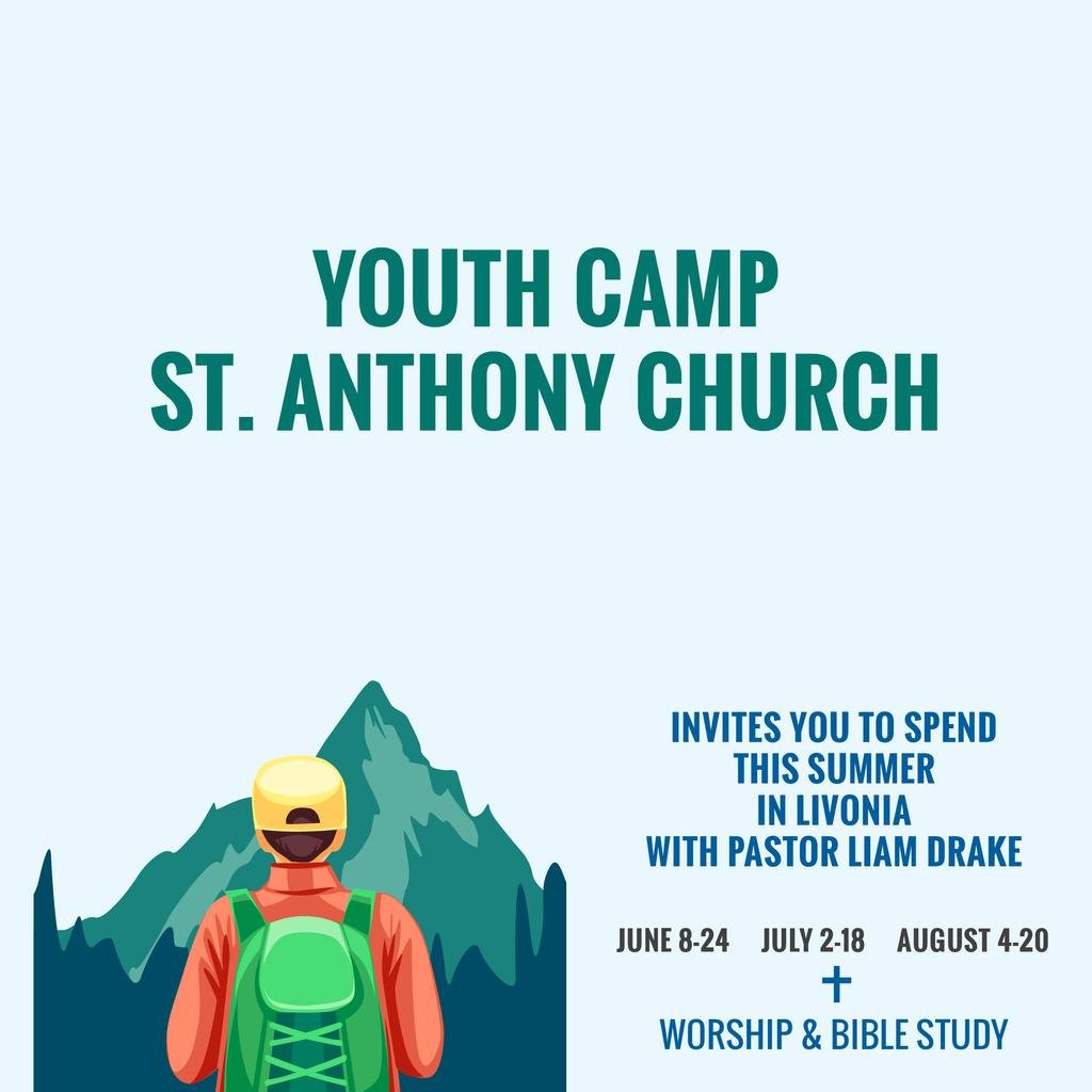 Youth religion camp of St. Anthony Church — Створити дизайн