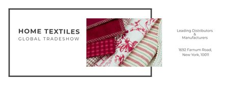 Designvorlage Home Textiles Event Announcement für Facebook cover