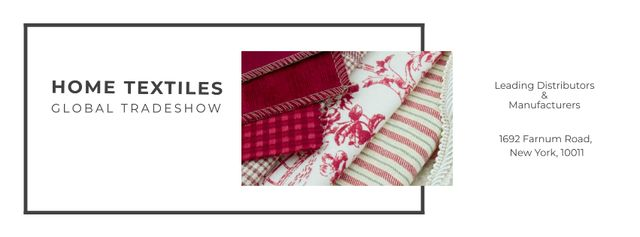 Plantilla de diseño de Home Textiles Event Announcement Facebook cover