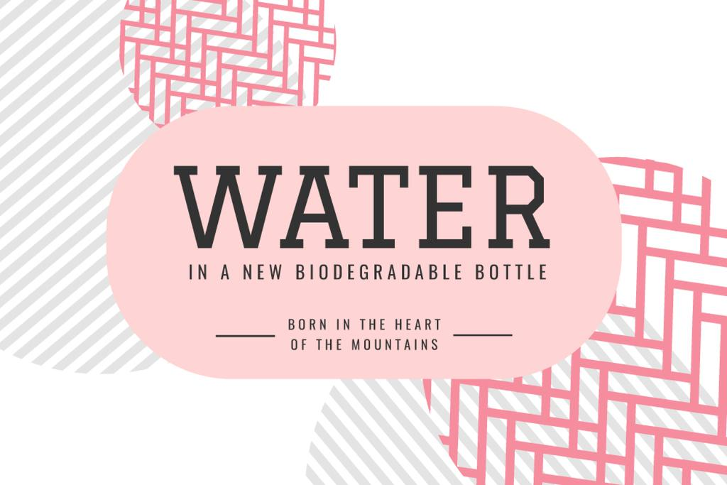 Water brand ad on abstract pattern — Створити дизайн