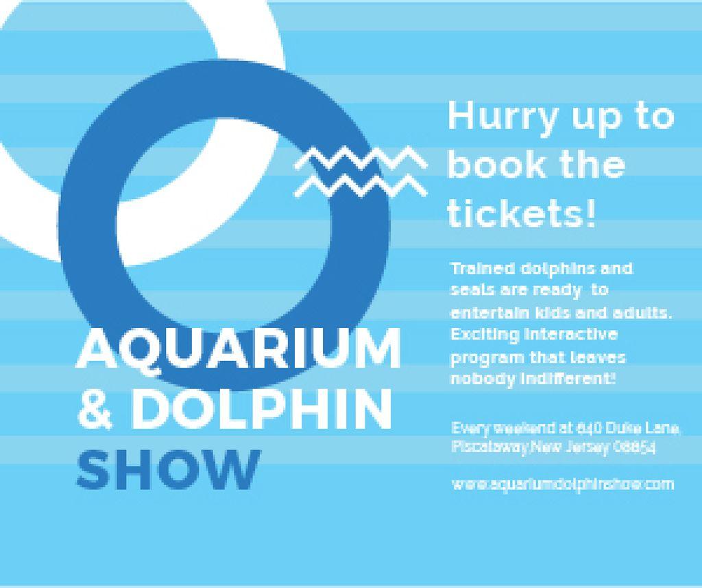 Ontwerpsjabloon van Medium Rectangle van Aquarium & Dolphin show