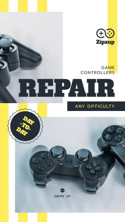 Repair game joysticks Offer Instagram Story Modelo de Design