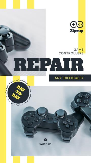 Repair game joysticks Offer Instagram Story Modelo de Design
