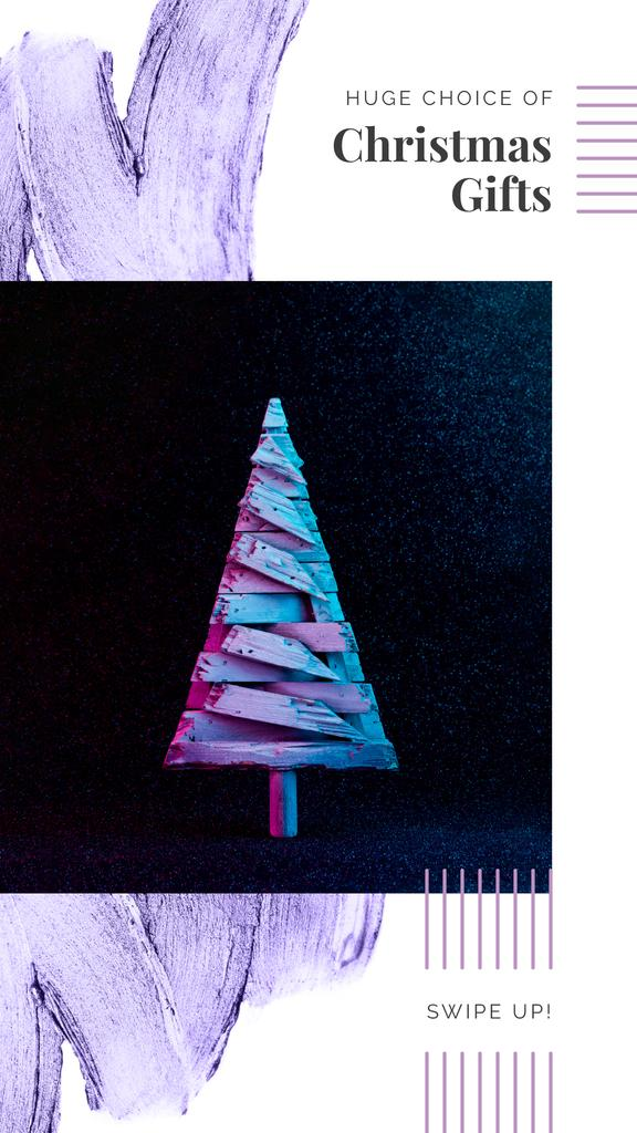 Stylized wooden Christmas tree — Maak een ontwerp