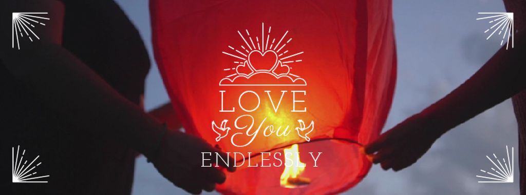 Soulmates holding Chinese Lantern on Valentine's Day — Create a Design