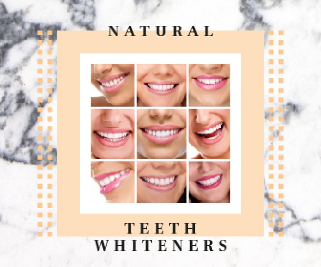 Collage with Female Smile with White Teeth - Bir Tasarım Oluşturun